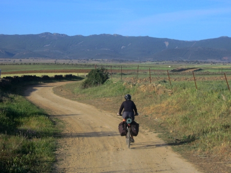 Sandra camino a Carrascalejo
